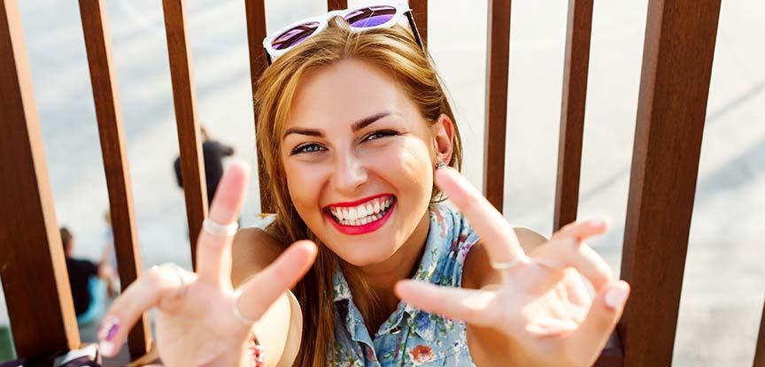 sorriso dopo sbiancamento dentale
